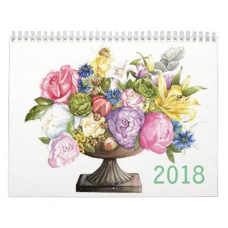 2018 Calendar of Botanical watercolors