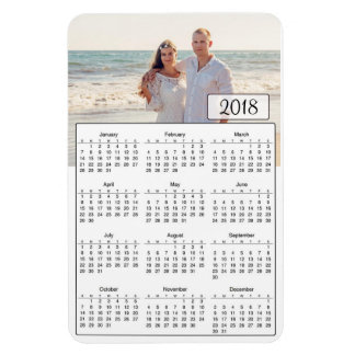 2018 Calendar Personalized Couple Photo Magnet