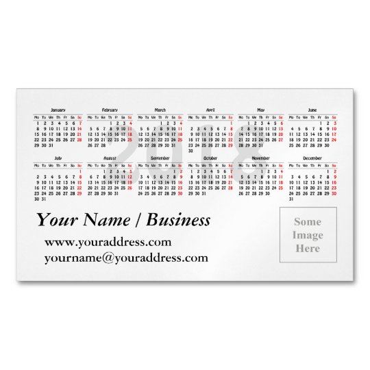 2018 calendar template magnetic business card zazzle 2018 calendar template magnetic business card cheaphphosting Gallery
