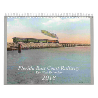 2018 Calendar Vintage Key West Railway