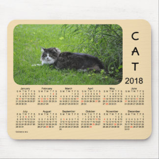 2018 Cat Holiday Calendar by Janz Mouse Pad