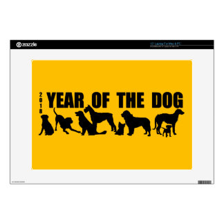 """2018 Chinese New Year of The Dog Skin Laptop Skins For 15"""" Laptops"""