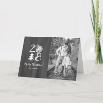 2018 Christmas Photo Chalkboard Doodle Holiday Card