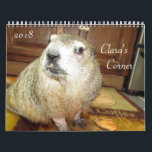 "2018 Clara&#39;s Corner Groundhog Calendar B<br><div class=""desc"">Calendar created for 2017,  newly updated for 2018 -- featuring another photo collection of pet groundhog,  Clara,  along with her sisters,  Maude and Bessie,  plus little brother,  Moses.  Photos from The Rodent Reader Quarterly magazine.  www.rodentreader.com</div>"