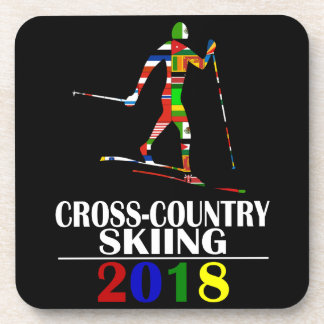 2018 CROSS-COUNTRY SKIING DRINK COASTER