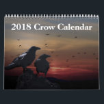 "2018 Crow Raven Calendar<br><div class=""desc"">This 2018 wall calendar feature is Crow Raven photography.</div>"