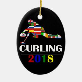 2018 CURLING CERAMIC ORNAMENT