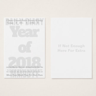 2018 Daily Diary Card Celsius