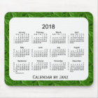 2018 Dark Green Diamonds 52 Weeks Calendar by Janz Mouse Pad