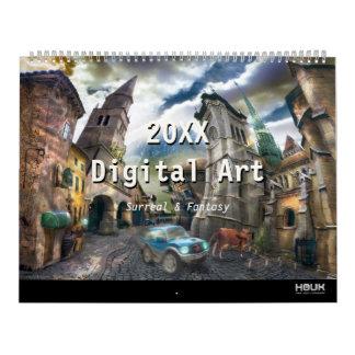 2018 Digital Surreal & Fantasy Art Calendar