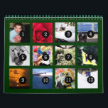 """2018 Easy as 1 to 12 Your Own Photo Calendar Green<br><div class=""""desc"""">12 of your photos is all you need to create your own custom 2018 green wall calendar. A centered subject works best, your pictures will fit in and be cropped to a square format automatically. Picture templates are numbered from 1 to 12 for the first month to the last month;...</div>"""