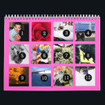 """2018 Easy as 1 to 12 Your Own Photo Calendar Pink<br><div class=""""desc"""">12 of your photos is all you need to create your own 2018 custom personalized pink wall calendar. A centered subject works best, your pictures will fit in and be cropped to a square format automatically. Picture templates are numbered from 1 to 12 for the first month to the last...</div>"""