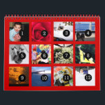 """2018 Easy as 1 to 12 Your Own Photo Calendar Red<br><div class=""""desc"""">12 of your 2018 photos is all you need to create your own custom personalized red wall calendar. A centered subject works best, your pictures will fit in and be cropped to a square format automatically. Picture templates are numbered from 1 to 12 for the first month to the last...</div>"""