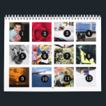 """2018 Easy as 1 to 12 Your Own Photo Calendar White<br><div class=""""desc"""">12 of your photos is all you need to create your own custom personalized white 2018 wall calendar. A centered subject works best, your pictures will fit in and be cropped to a square format automatically. Picture templates are numbered from 1 to 12 for the first month to the last...</div>"""