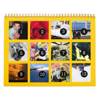2018 Easy as 1 to 12 Your Photo Calendar Yellow