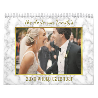 2018 Family Photo | Patterns Easy Custom Template Calendar
