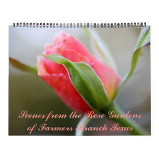 2018 Farmers Branch Rose Gardens Calendar