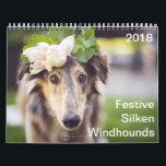 "2018 Festive Silken Windhounds Calendar<br><div class=""desc"">2018 Festive Silken Windhounds</div>"