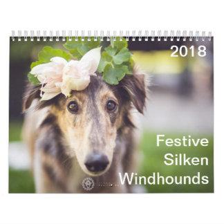 2018 Festive Silken Windhounds Calendar
