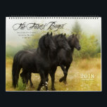 """2018 Forest Boyz Calendar<br><div class=""""desc"""">Meike, Menno and Saphire, affectionately known as The Forest Boyz, are Friesian stallions that live free in a bachelor herd in the forests of the northern California coast. Nothing brings me more joy than giving these stallions the best life that I possibly can. It is rare to see stallions living...</div>"""
