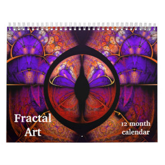 2018 Fractal Art Abstract Psychedelic Calendar