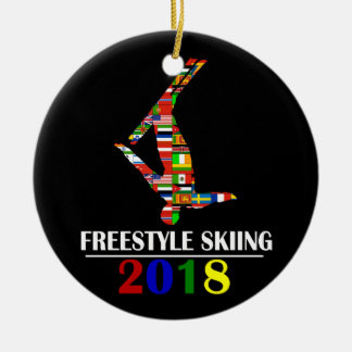 2018 FREESTYLE SKIING CERAMIC ORNAMENT