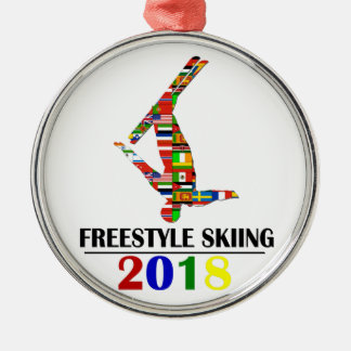 2018 FREESTYLE SKIING METAL ORNAMENT