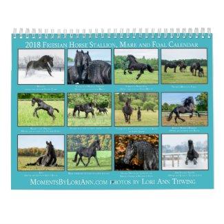 2018 Friesian Mare, Foal and Stallion Calendar