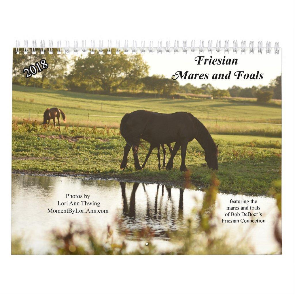 2018 Friesian Mares and Foals Calendar