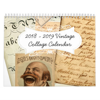 2018 Fun Vintage Collage Calendar