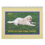 2018 Golden Retriever Puppy Calendar