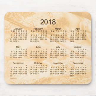 2018 Golden Silk Calendar by Janz Mouse Pad
