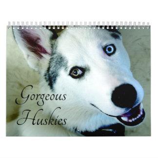 2018 Gorgeous Siberian Husky Dog Calendar