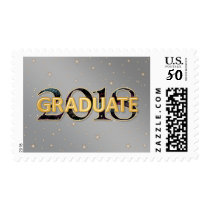 2018 Graduate with Stars Fireworks Silver Gold Postage