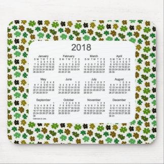 2018 Green Flower Power Calendar by Janz Mouse Pad