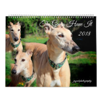 2018 GREYHOUND DOG CALENDAR