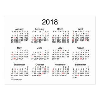 2018 Holiday Mini Calendar by Janz Postcard