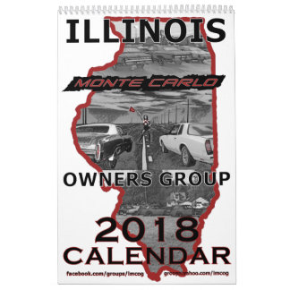 """2018"" Illinois Monte Carlo Owners Group Calendar"