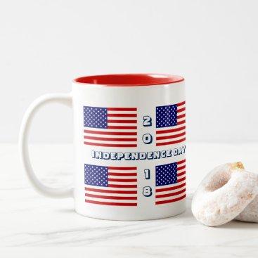 USA Themed 2018 Independence Day Coffee Mug by Janz