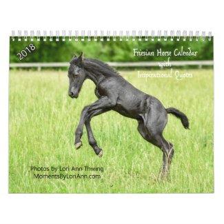 2018 Inspirational Friesian Horse Calendar