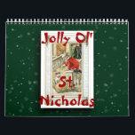 "2018 Jolly Ol&#39; St. Nicholas Calendar<br><div class=""desc"">Enjoy Santa Claus all year long! This calendar was created in Photoshop Elements 7 using vintage images of Santa Claus (or St. Nicholas, if you prefer). The background was created using brushes from obsidiandawn.com. In addition to Christmas, consider giving a calendar as a back-to-school gift for a college student, a...</div>"