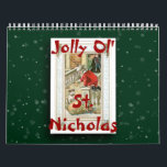 """2018 Jolly Ol&#39; St. Nicholas Calendar<br><div class=""""desc"""">Enjoy Santa Claus all year long! This calendar was created in Photoshop Elements 7 using vintage images of Santa Claus (or St. Nicholas, if you prefer). The background was created using brushes from obsidiandawn.com. In addition to Christmas, consider giving a calendar as a back-to-school gift for a college student, a...</div>"""