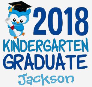 2018 Kindergarten Graduation Owl Cool Custom T Shirt