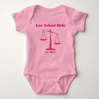2018 Law School Baby Romper (Pink Ink)