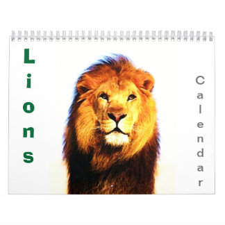 2018 Lions Wall Calendar - Wild Animals & Big Cats