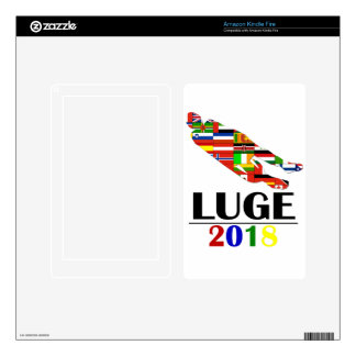 2018 LUGE DECAL FOR KINDLE FIRE