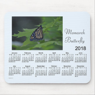 2018 Monarch Butterfly Calendar by Janz Mouse Pad