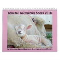 2018 NABSSAR Babydoll Southdown sheep calendar