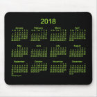 2018 Neon Green Calendar by Janz Mouse Pad