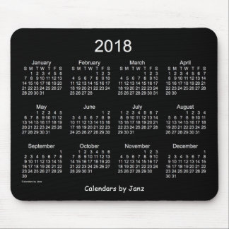 2018 Neon White Calendar by Janz Mouse Pad